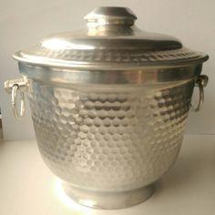 Retro * VIntage * Mid Century Modern Italian Made Aluminium Ice Bucket
