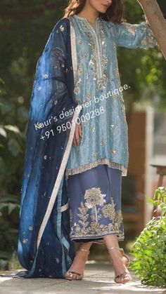 New Bridal Dresses Blue Pakistani Ideas Pakistani Party Wear, Pakistani Wedding Outfits, Pakistani Dress Design, Pakistani Dresses, Indian Dresses, Indian Outfits, Indian Sarees, New Bridal Dresses, Bridal Outfits