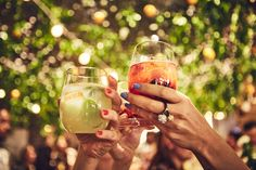 Here's to garden cocktails, glowing fairy lights, and a soirée spirit.