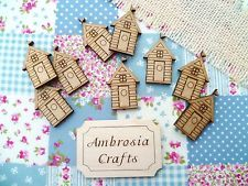 Wooden MDF Beach Huts - Engraved detail - Beach House Embellishments