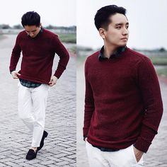 Get this look: http://lb.nu/look/8572977  More looks by Beny PN: http://lb.nu/user/6060085-Beny-P  Items in this look:  Zara Sweater, H&M Shirt, Zara Loafer
