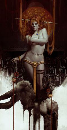 Inanna by Bastien Lecouffe Deharme #digital #illustration #fantasy