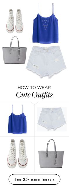 """Cute trendy outfit for summer!!!!"" by dani-franco on Polyvore featuring H&M, Zara, Converse and Michael Kors"