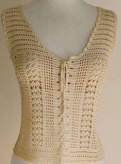 Fabulous Crochet a Little Black Crochet Dress Ideas. Georgeous Crochet a Little Black Crochet Dress Ideas. Crochet Tank Tops, Crochet Shirt, Cute Crochet, Crochet Lace, Crochet Jumper Pattern, Crochet Patterns, Crochet Ideas, Crochet Buttons, Crochet Stitches