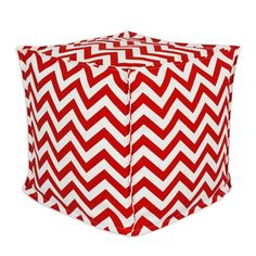 Chooty & Co. www.chooty.com Chevron Cherry Hassock bp17s8000