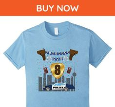 Kids 8th eighth 8 eight years happy birthday boy police t shirts 6 Baby Blue - Birthday shirts (*Amazon Partner-Link)