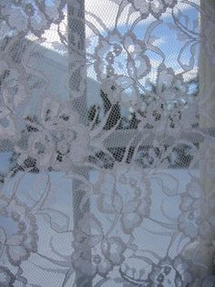 Lace curtains.