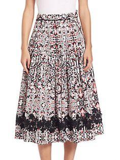 Tomas Maier - Sevilla Printed Circle Skirt