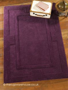 Apollo Purple Rug, a thick hand-tufted 100% wool rug http://www.therugswarehouse.co.uk/purple-rugs/apollo-purple-rug.html #rugs #interiors #wool