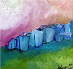 """Blue Village""Prudencio Hernandez - Oleo s/tela - 30 x 30 cm. - 2011 -"