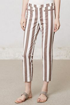 Ruled Charlie Trousers #anthropologie  If this didn't make me look so short... mmm <3 For my long-legged friends (: