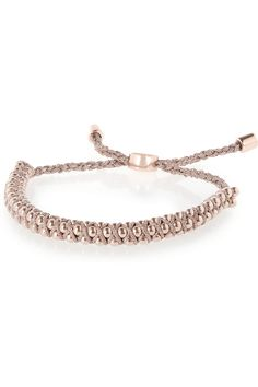 Monica Vinader Rio 18-karat rose gold-vermeil beaded bracelet