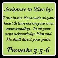 Trust in the Lord.....He shall direct your path.  Proverbs 3:5-6