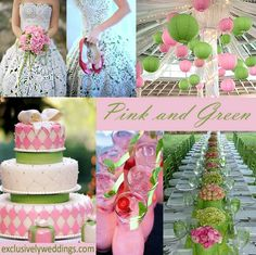 Green + Pink Wedding #Wedding #Planning ideas https://itunes.apple.com/us/app/the-gold-wedding-planner/id498112599?ls=1=8 tips on how to keep your costs down ♥ #pale #pastel #pink #green #wedding #bride #bouquet #corsages #boutonnieres #ceremony #cake #reception ♥ More pink wedding ideas http://pinterest.com/groomsandbrides/pastel-pink-wedding/