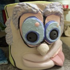 Funny Face Mugs - History of Funny Face Jugs & Glazed Mugs - Lesson 2 - Create Art with ME Art Room Rules, High School Ceramics, Art Classroom Management, Mugs And Jugs, 8th Grade Art, Face Jugs, Face Images, Creative Posters, Creative Ideas