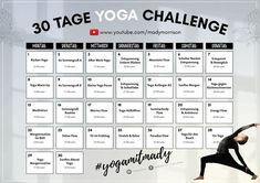 Start the 30 day yoga challenge with Mady Morrison. Become more agile, relaxed . - Start the 30 day yoga challenge with Mady Morrison. Become more agile, relaxed, powerful and love yourself as you are. Find your yoga routine! Cardio Yoga, Power Yoga Workout, Sanftes Yoga, Ashtanga Yoga, Yoga Flow, Pranayama, Yoga Routine, Yoga Warm Up, Bruce Lee
