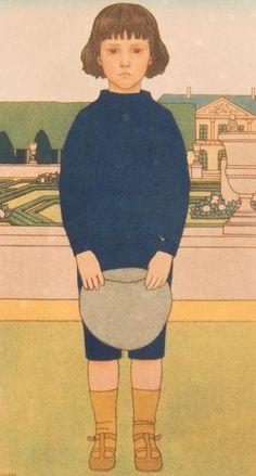 Jeune garçon dans le jardin du Luxembourg, 1908 by Bernard BOUTET DE MONVEL (1881-1949) 49x33 cm