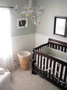 silver sage colored nursery.... I want this color in my whole house!