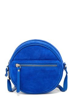 Great blue suede bag.