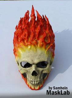 Your place to buy and sell all things handmade Ghost Rider Motorcycle, Ghost Rider 2099, Ghost Rider Movie, Ghost Rider Johnny Blaze, Ghost Rider Marvel, Custom Motorcycle Helmets, Ducati Motorcycle, Motorcycle Design, Ghost Rider Drawing