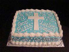 Boy Cross swirls cake