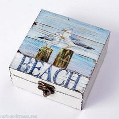 Beachy wood box