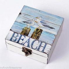 Beachy wood box