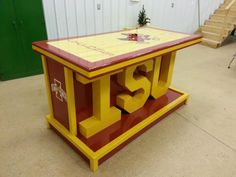 An Iowa State Cyclones bar I built 3ft by 6ft