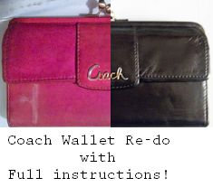 Completely re-do a Coach Wallet with a DIY Leather Dye project! Full instructions with pictures