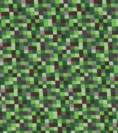 Minecraft inspired grass block fabric by joyfulrose on for Minecraft fabric by the yard