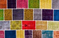 Vintage Patchwork Teppich - mozaiik Unikat Nr. 52TP