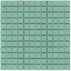 Elida Ceramica�12-in x 12-in Ultra Marine Glass Mosaic Square Wall Tile (Actuals 12-in x 12-in)