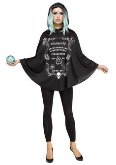 Spirit Board Poncho for Women - FOREVER HALLOWEEN Scary Halloween Costumes, Halloween Dress, Adult Costumes, Costumes For Women, Women Halloween, Vampire Costumes, Spooky Halloween, Costume Supercenter, Horror Costume