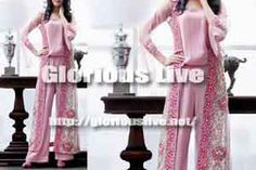 Pink Hand Embroidery Flowers Silk Jumpsuit... Baby pink front open long gown...Designer jumpsuit is made in silk with thread embroidery and lace detail work ....