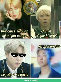 Read from the story Memes de BTS by WeGotThat_Boom (Your Euphoria🌸🍥) with reads. Memes Bts Español, Kid Memes, Funny Memes, Bts Taehyung, Bts Bangtan Boy, Bts Jimin, K Pop, Bts Billboard, Drama Memes