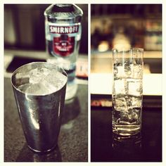 Use different ice in your shaker than in your glass. Fresh ice keeps your drink cooler, longer. #smirnoff #vodka #drink #tips