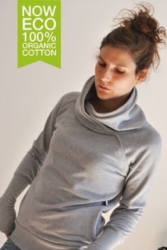 Organic Cotton Grey QUASAR winter Women sweatshirt sweater/   Gift for her / Women fashion / Eco-friendly by kupukupuapparel on Etsy https://www.etsy.com/listing/161647675/organic-cotton-grey-quasar-winter-women