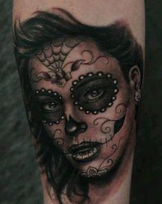 Sweet sugar skull lady