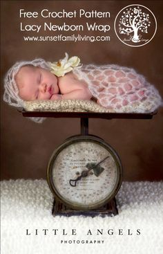 Lacy Newborn Wrap Free Crochet Pattern