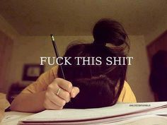 this is how I feel when doing homework