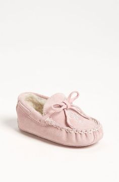Cole Haan 'Mini' Moccasin with Faux Shearling Lining (Baby) | Nordstrom