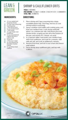 Optavia Lean and Green Meals 5 and 1 - Bing Medifast Recipes, Diet Recipes, Cooking Recipes, Healthy Recipes, Healthy Meals, Lean Recipes, Venison Recipes, Salmon Recipes, Arroz Con Leche