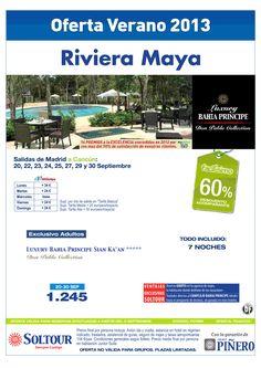Riviera Maya (México) 60% Luxury Bahía Príncipe Riviera Maya, salidas 20,22,23,24,25,27,29 y 30 Septiembre desde Madrid - http://zocotours.com/riviera-maya-mexico-60-luxury-bahia-principe-riviera-maya-salidas-20222324252729-y-30-septiembre-desde-madrid-2/