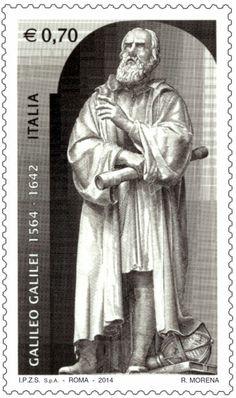 Francobollo commemorativo di Galileo Galilei, nel 450° anniversario della nascita