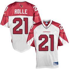 NFL #21 White Antrel Rolle Arizona Cardinals jersey  ID:93544675  $20