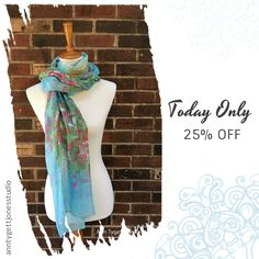 Today Only! 25% OFF this item.  Follow us on Pinterest to be the first to see our exciting Daily Deals. Today's Product: Cherry Blossom Art Scarf, unique wrap, spring cherry blossom tree painted scarf, art scarf, gifts for her, modal silk cherry blossom art Buy now: https://www.etsy.com/listing/495363864?utm_source=Pinterest&utm_medium=Orangetwig_Marketing&utm_campaign=Daily%20Deal   #etsy #etsyseller #etsyshop #etsylove #etsyfinds #etsygifts #handmade #abstractart #handmadewithlove…