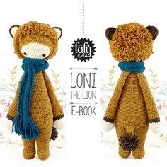"""Crochet PATTERN Doll """"LONI the lion"""" PDF"""