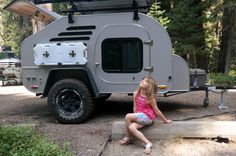Teardrop Trailer Lifestyle: Pictures and information about the way people camp with teardrops. Camper Caravan, Teardrop Trailer, Pictures Of People, Recreational Vehicles, Camping, Lifestyle, Trailers, Campsite, Pendant