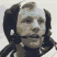 "WBK Neil Armstrong 52x52  Part of the""Analogue to Digital"" series"