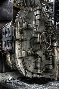 A different version of 'Abandoned' architecture, mechanical things, factories, etc. - See also Atmospheric: http://www.pinterest.com/ewatbend/atmospheric/ - http://www.pinterest.com/soulstorm810/abandoned/